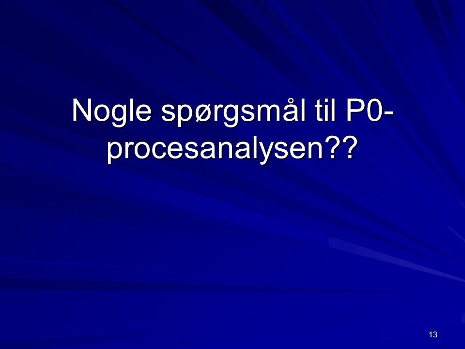 13 Nogle spørgsmål til P0- procesanalysen