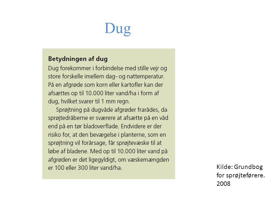 Dug Kilde: Grundbog for sprøjteførere. 2008