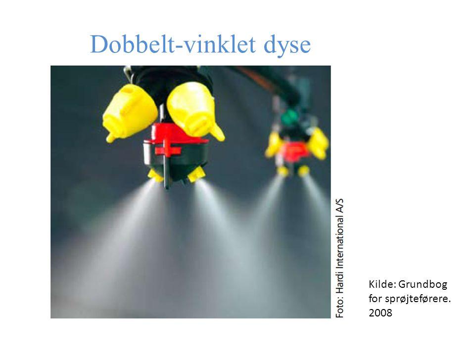Dobbelt-vinklet dyse Kilde: Grundbog for sprøjteførere. 2008