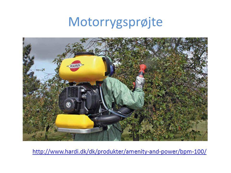 Motorrygsprøjte http://www.hardi.dk/dk/produkter/amenity-and-power/bpm-100/