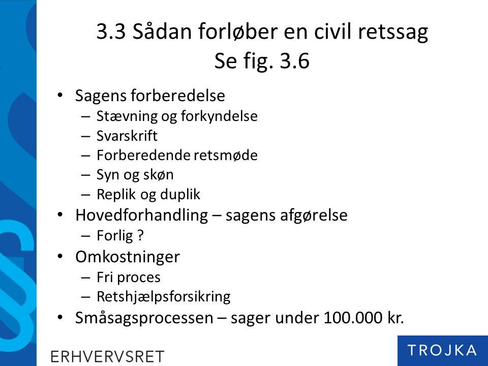 3.3 Sådan forløber en civil retssag Se fig.