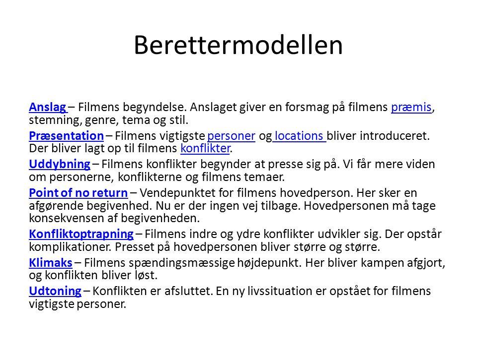 Berettermodellen Anslag Anslag – Filmens begyndelse.