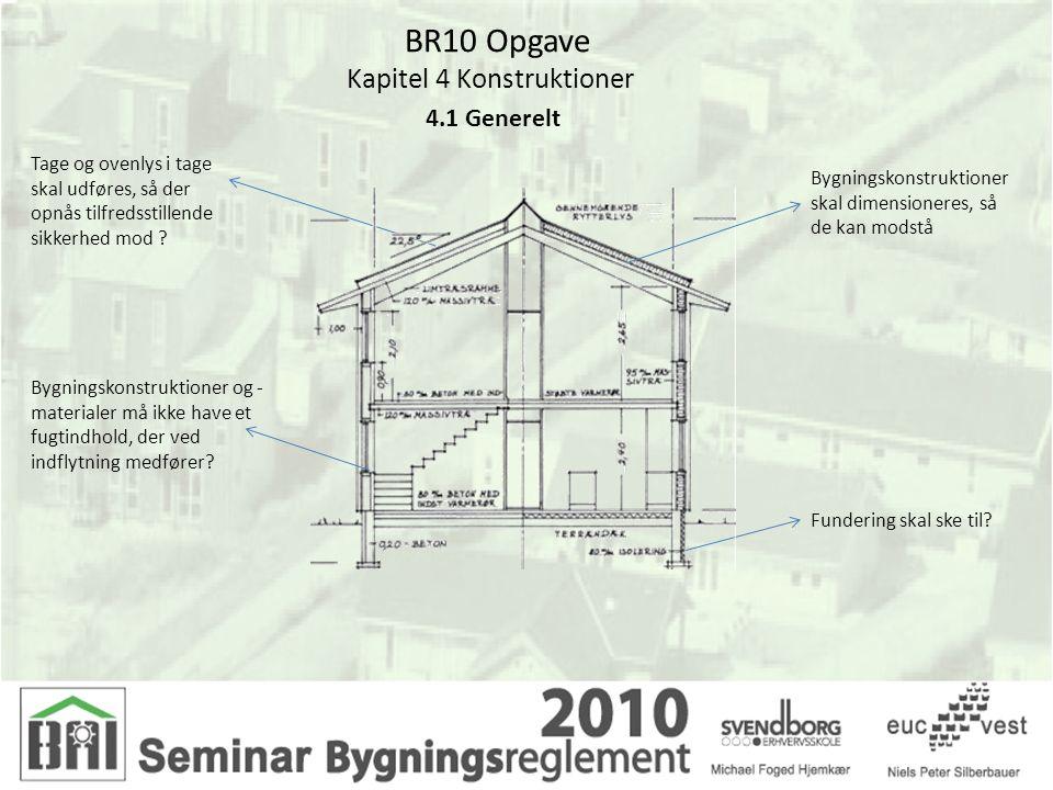 BR10 Opgave Kapitel 4 Konstruktioner 4.2 Dimensionering af konstruktioner Dimensionering af Snelast på konstruktioner skal ske på grundlag af følgende Eurocodes.