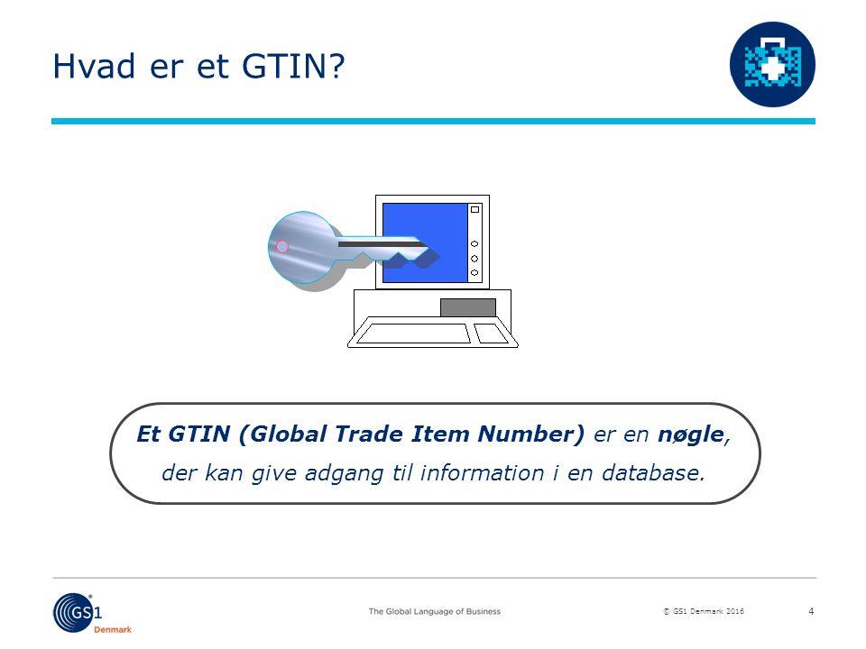 © GS1 Denmark 2016 Hvad er et GTIN.