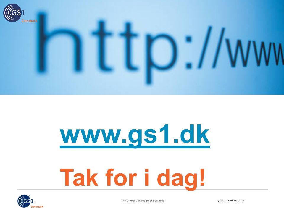 www.gs1.dk Tak for i dag!