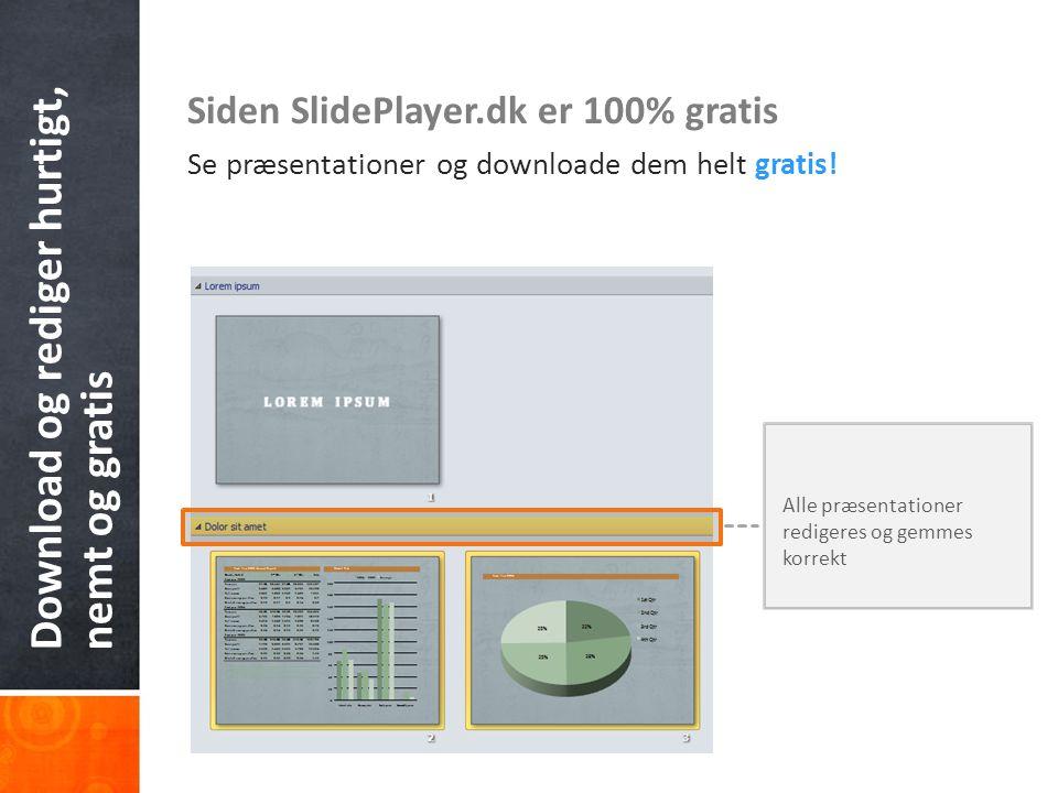 Ikke flere flash-drev og tunge e-mails.Udgiv din præsentation på SlidePlayer.dk og send linket.