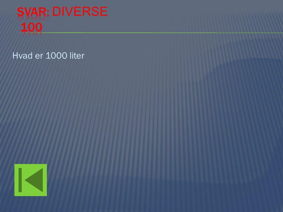 Hvad er 1000 liter