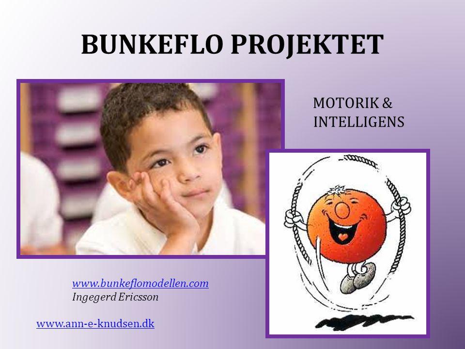 BUNKEFLO PROJEKTET MOTORIK & INTELLIGENS www.ann-e-knudsen.dk www.bunkeflomodellen.com Ingegerd Ericsson