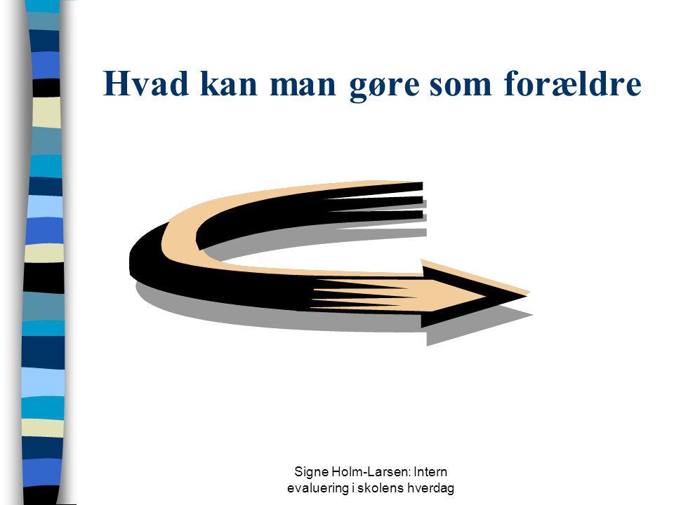 Signe Holm-Larsen: Intern evaluering i skolens hverdag Refleksionspunkter  Hensigtsmæssig elevtestadfærd – skolens dannelsesmål  Skolernes it-situat