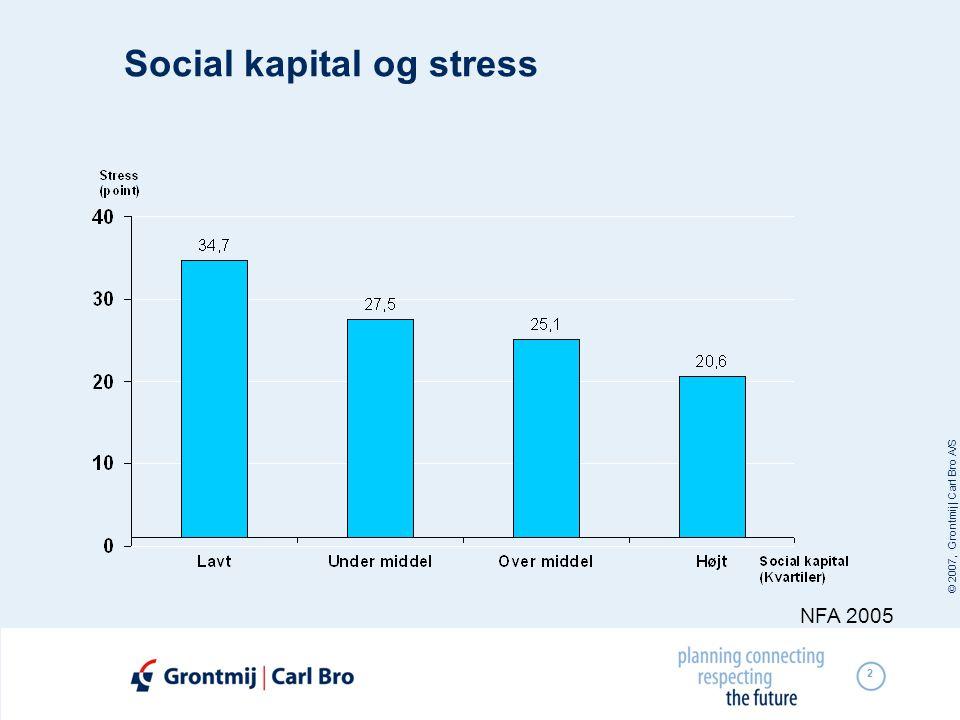 © 2007, Grontmij | Carl Bro A/S 2 Social kapital og stress NFA 2005