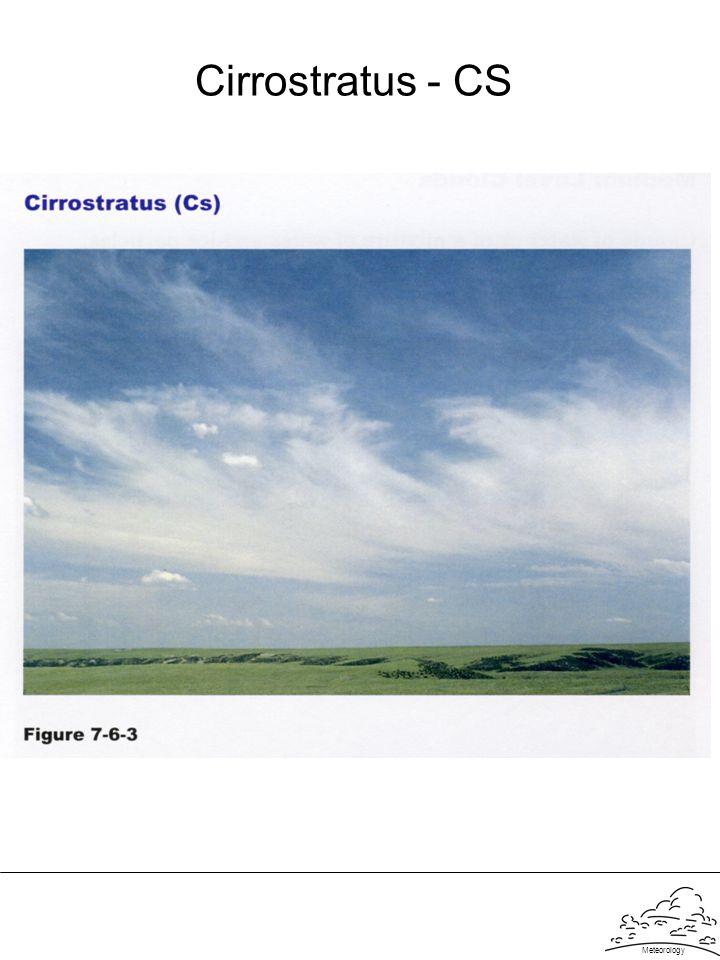 Meteorology Cirrostratus - CS