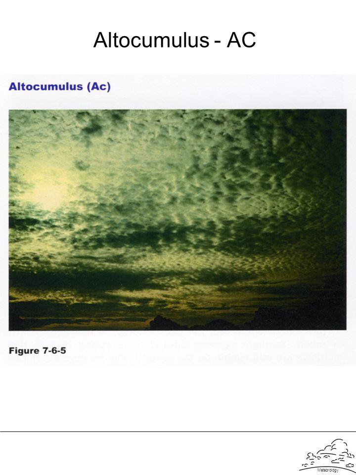 Meteorology Altocumulus - AC