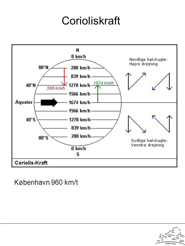 Meteorology Corioliskraft København 960 km/t