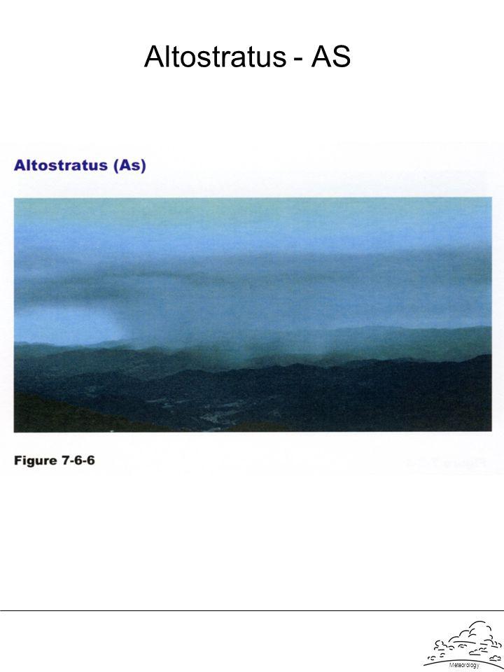 Meteorology Altostratus - AS