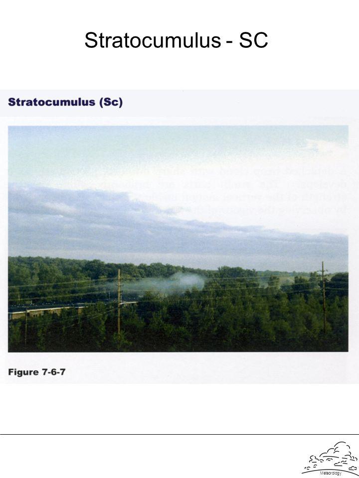 Meteorology Stratocumulus - SC