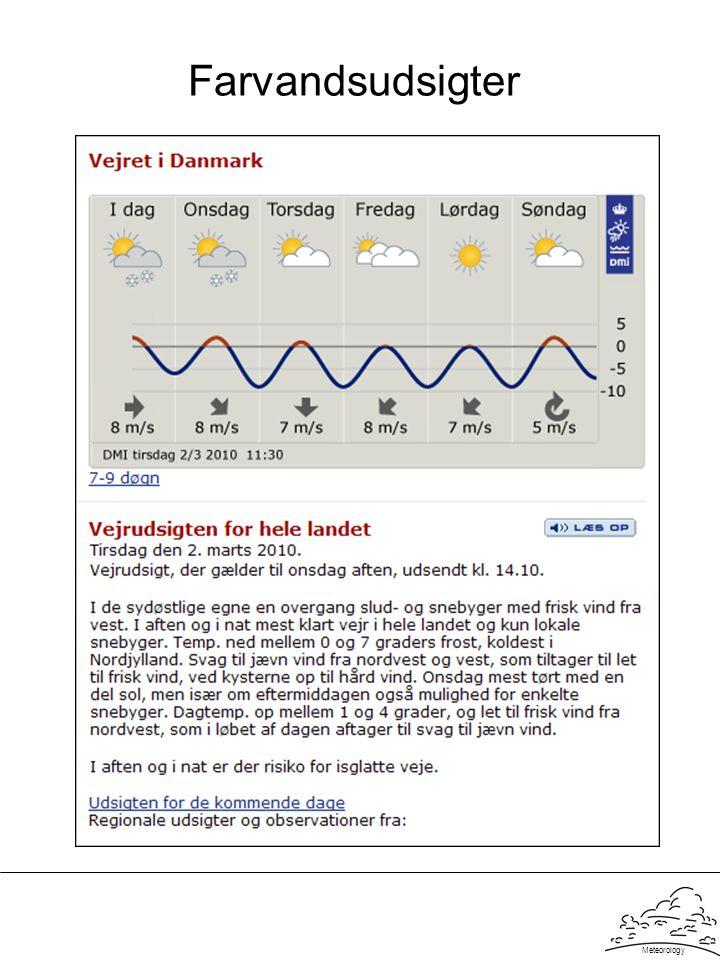 Meteorology Farvandsudsigter