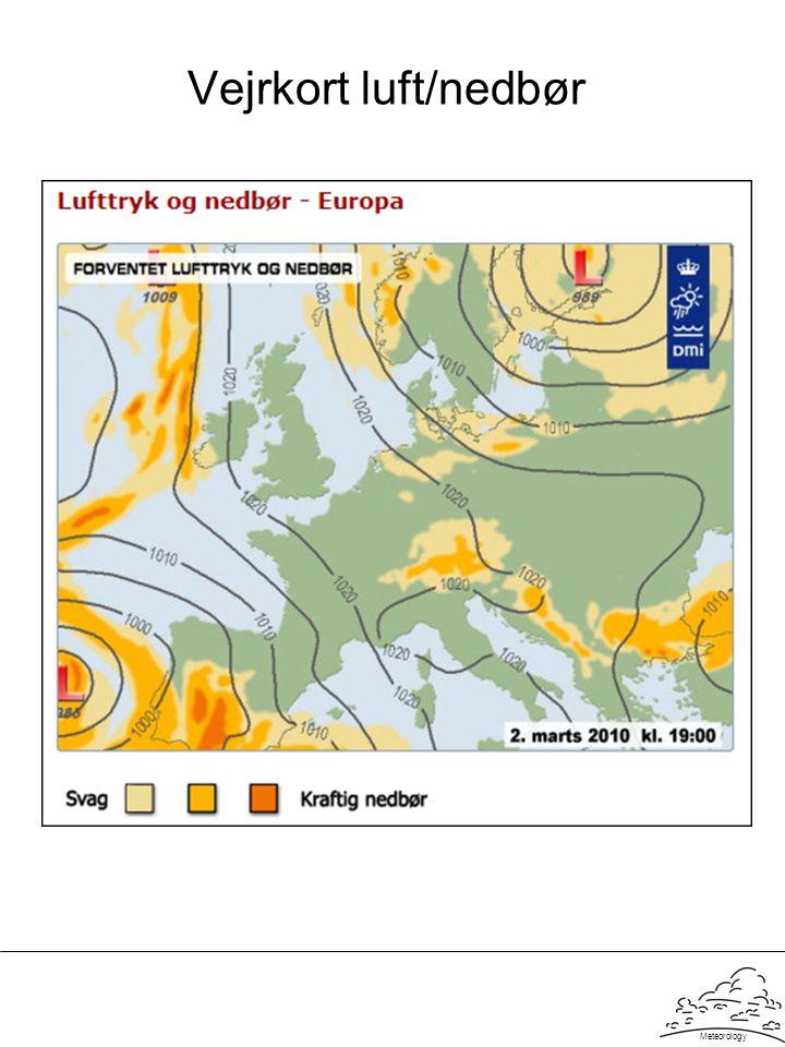 Meteorology Vejrkort luft/nedbør