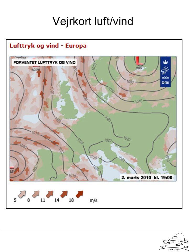 Meteorology Vejrkort luft/vind