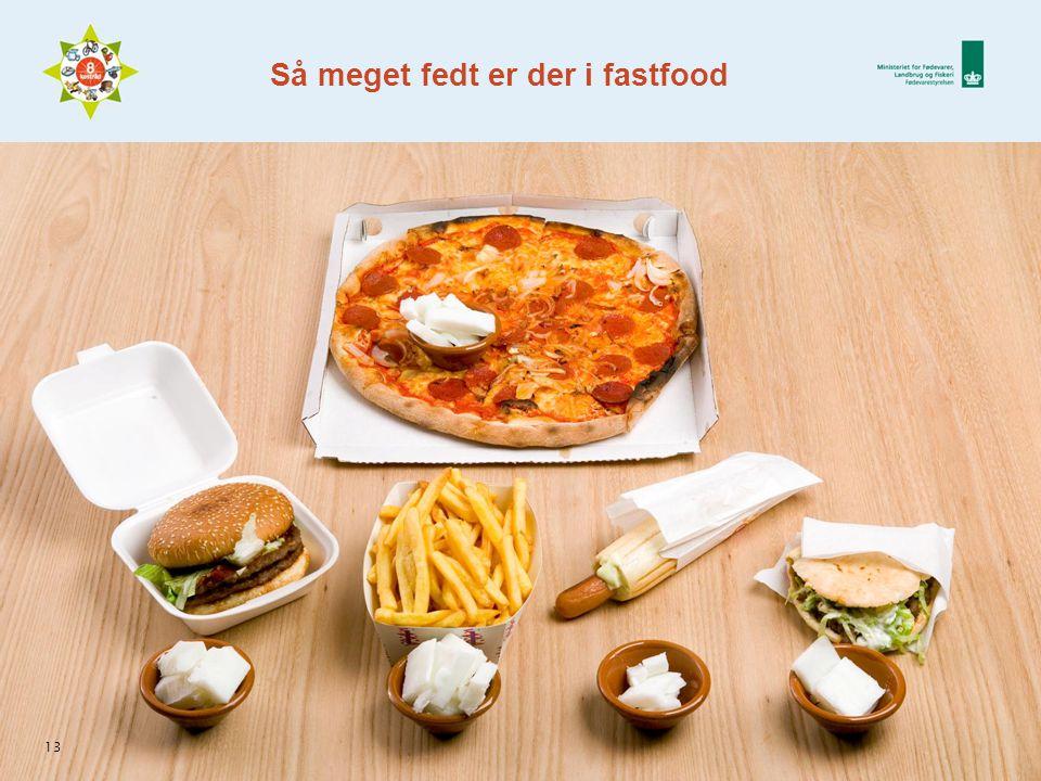 13 Så meget fedt er der i fastfood