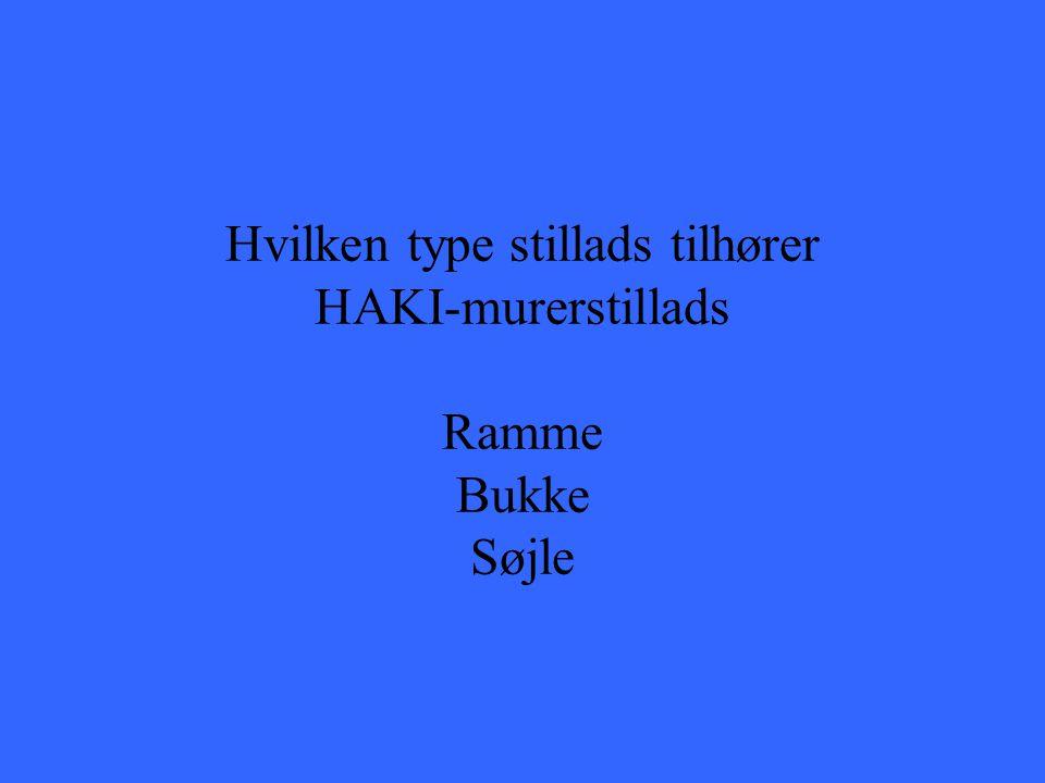 Hvilken type stillads tilhører HAKI-murerstillads Ramme Bukke Søjle