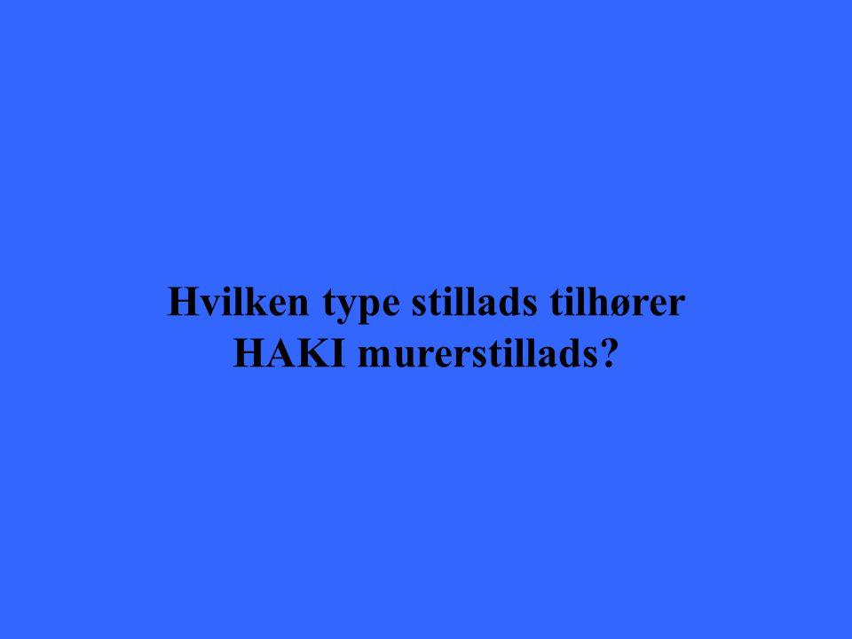 Hvilken type stillads tilhører HAKI murerstillads?