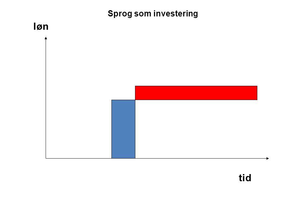 Sprog som investering tid løn