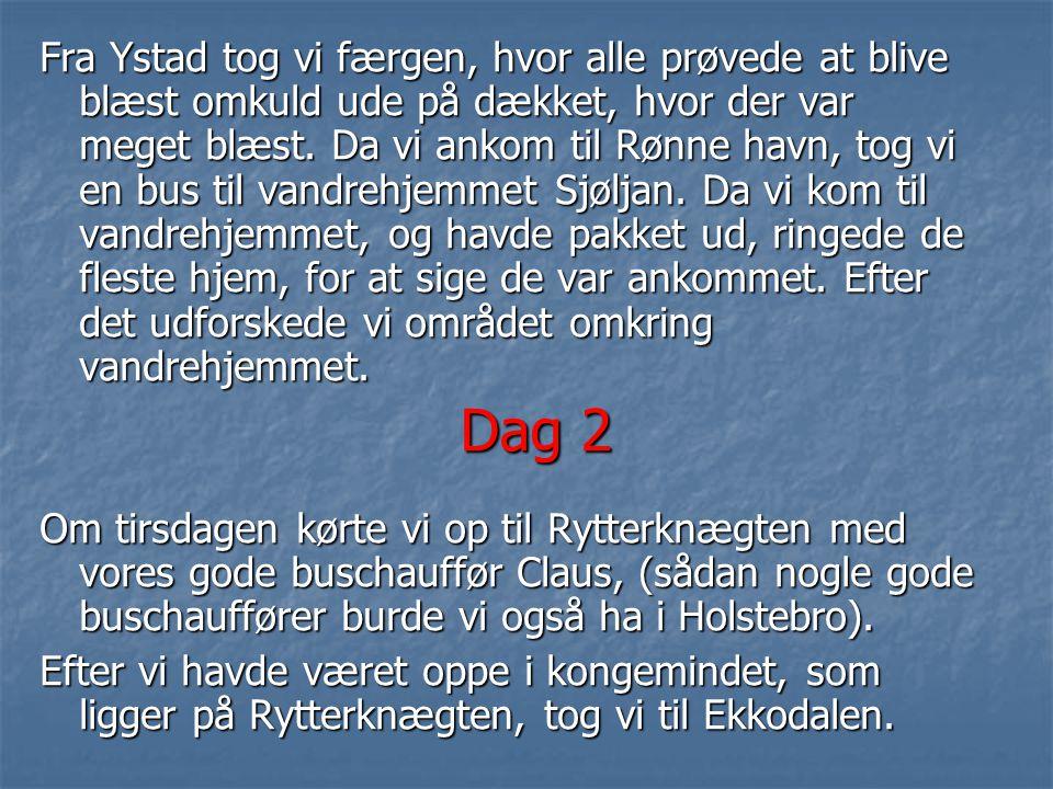 Dag 1 Vi startede på Holstebro banegård, hvor vi med bus tog til Herning for at tage toget til København H. Da vi havde været på hoved banegården i 1½
