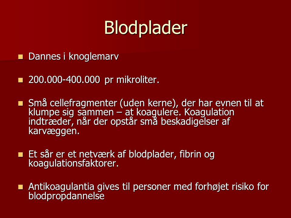 Blodplasma  Blodplasmaet er den gullige opløsning af forskellige stoffer der fremkommer ved centrifugering af en blodprøve.