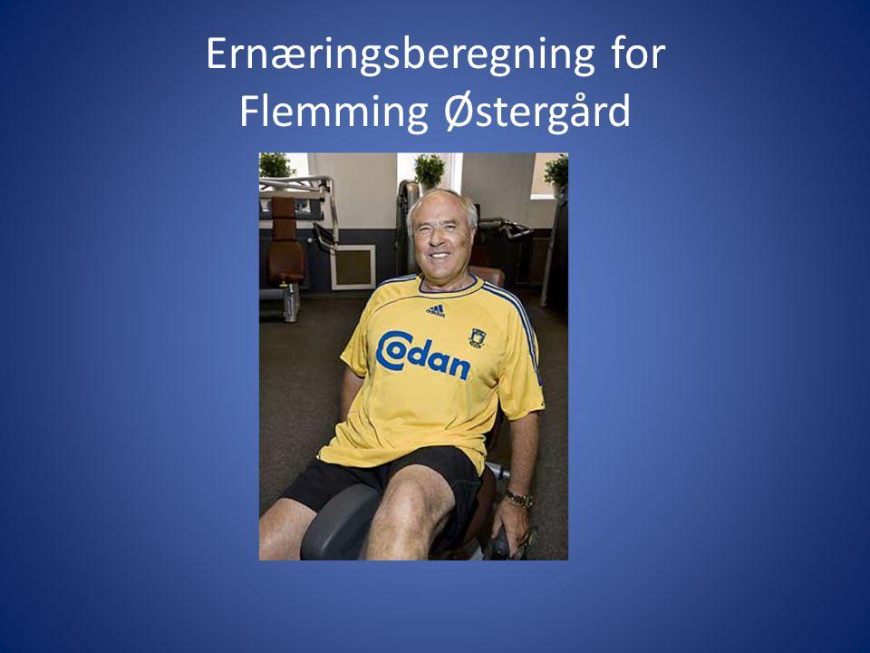 Ernæringsberegning for Flemming Østergård