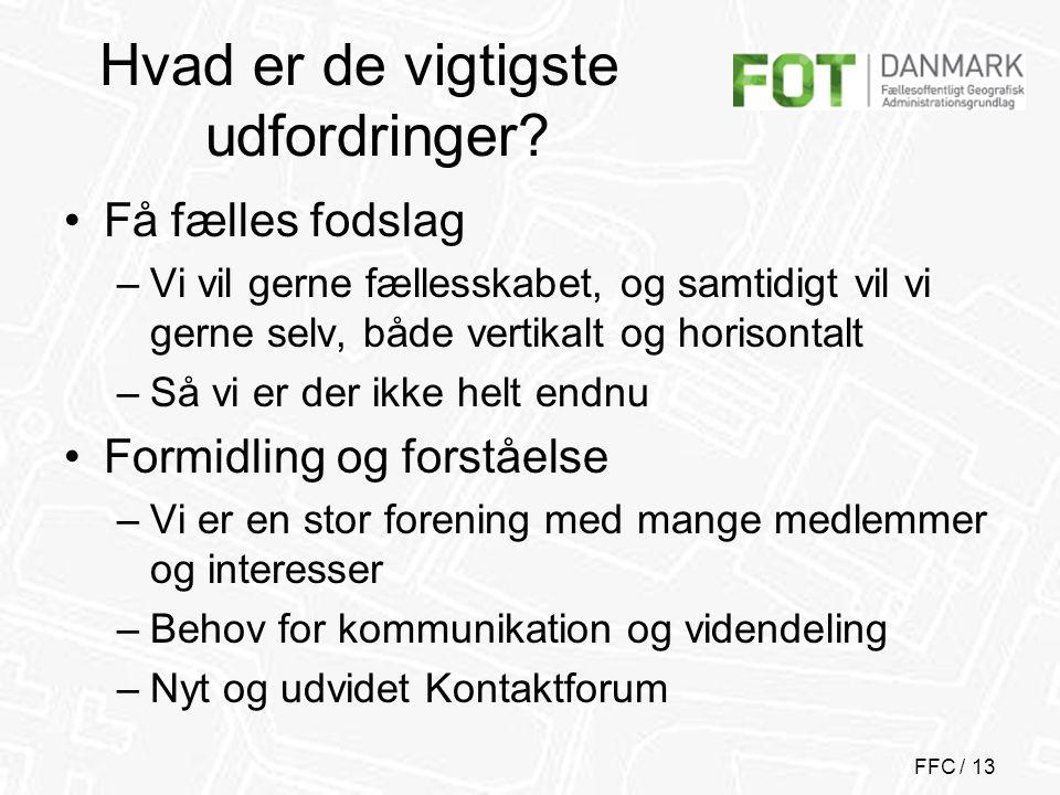 FFC / 13 Hvad er de vigtigste udfordringer.