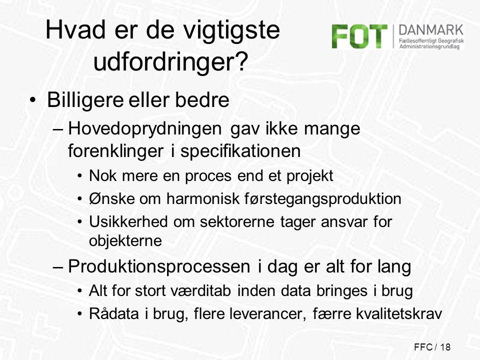 FFC / 18 Hvad er de vigtigste udfordringer.