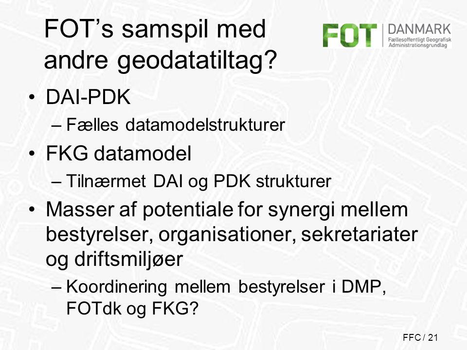 FFC / 21 FOT's samspil med andre geodatatiltag.