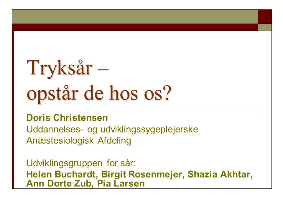 Tryksår pakken Patientsikkert Sygehus 2009