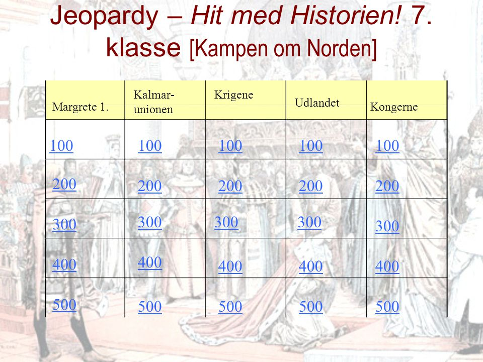 100 kr Svensk konge som blev afsat – og Margrete fik magten i landet