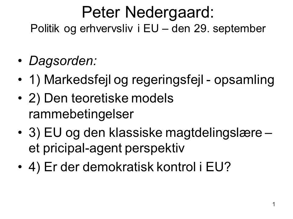1 Peter Nedergaard: Politik og erhvervsliv i EU – den 29.