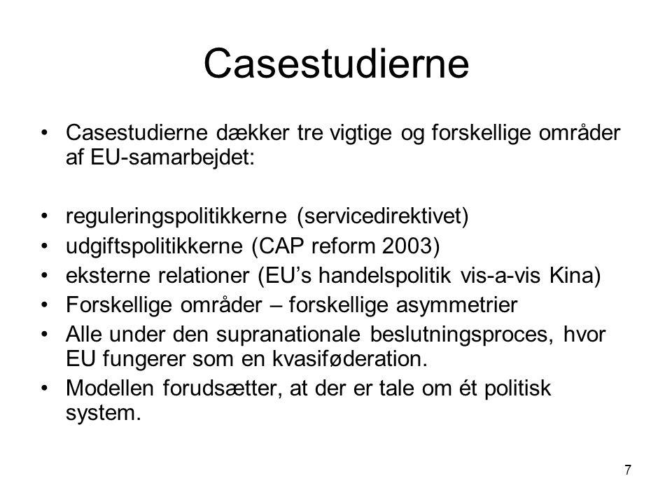 18 Demokratisk kontrol med Kommissionen.