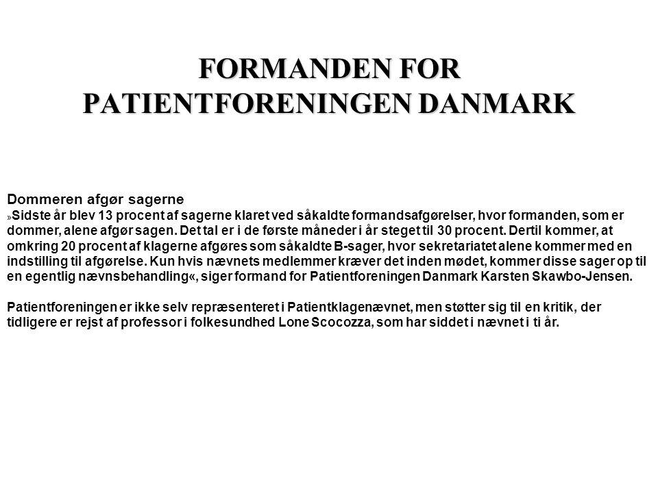 INDSIGELSER Danske Handicaporganisationer Lovforslaget giver ikke patienterne tilbud om en uvildig bisidder med særlige kompetencer ift.