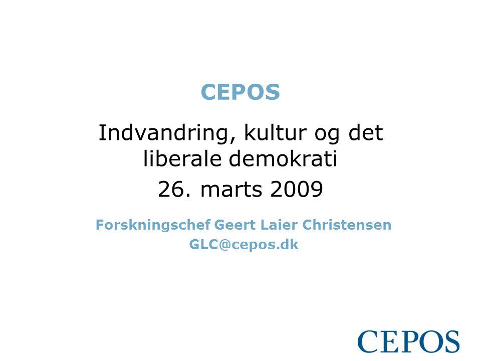 CEPOS Indvandring, kultur og det liberale demokrati 26.