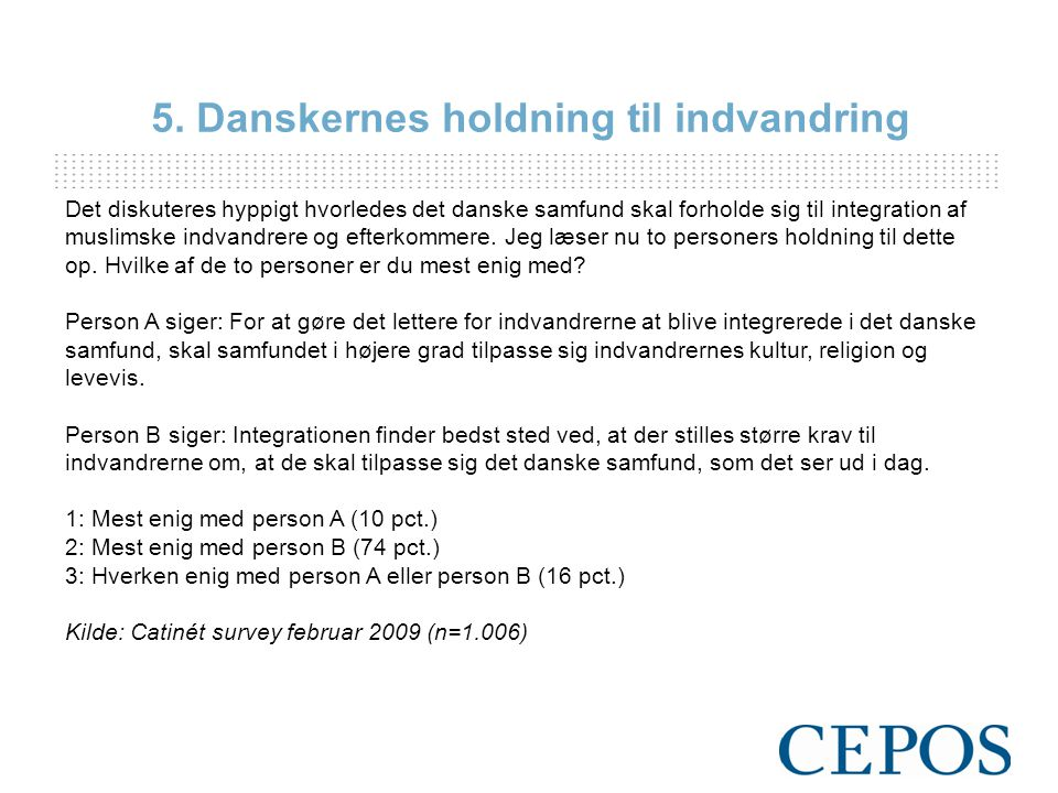 Det diskuteres hyppigt hvorledes det danske samfund skal forholde sig til integration af muslimske indvandrere og efterkommere.