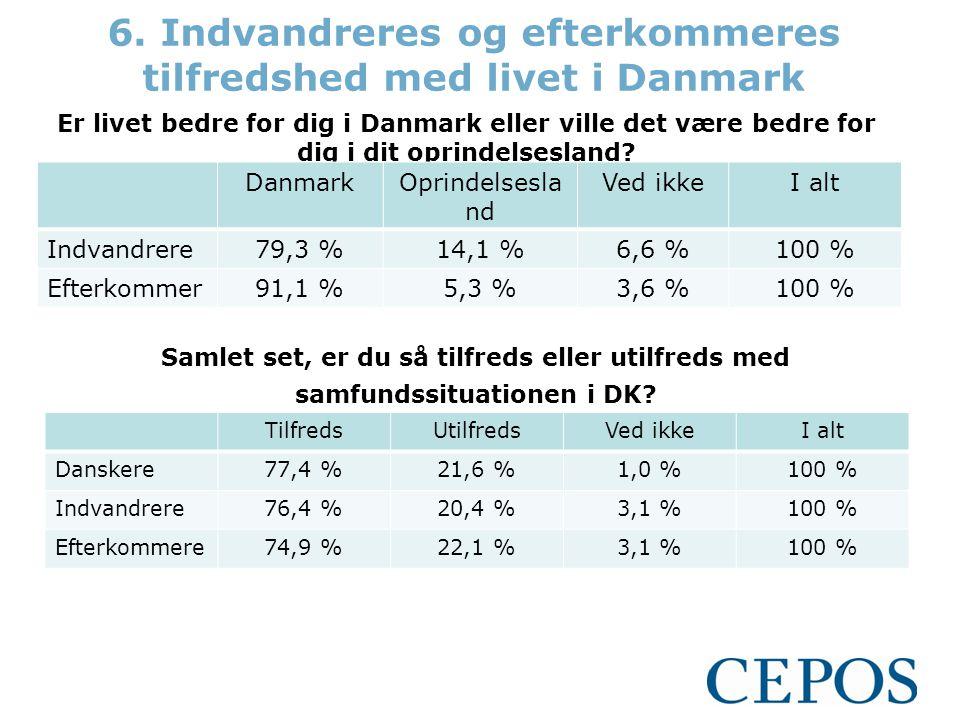 Er livet bedre for dig i Danmark eller ville det være bedre for dig i dit oprindelsesland.
