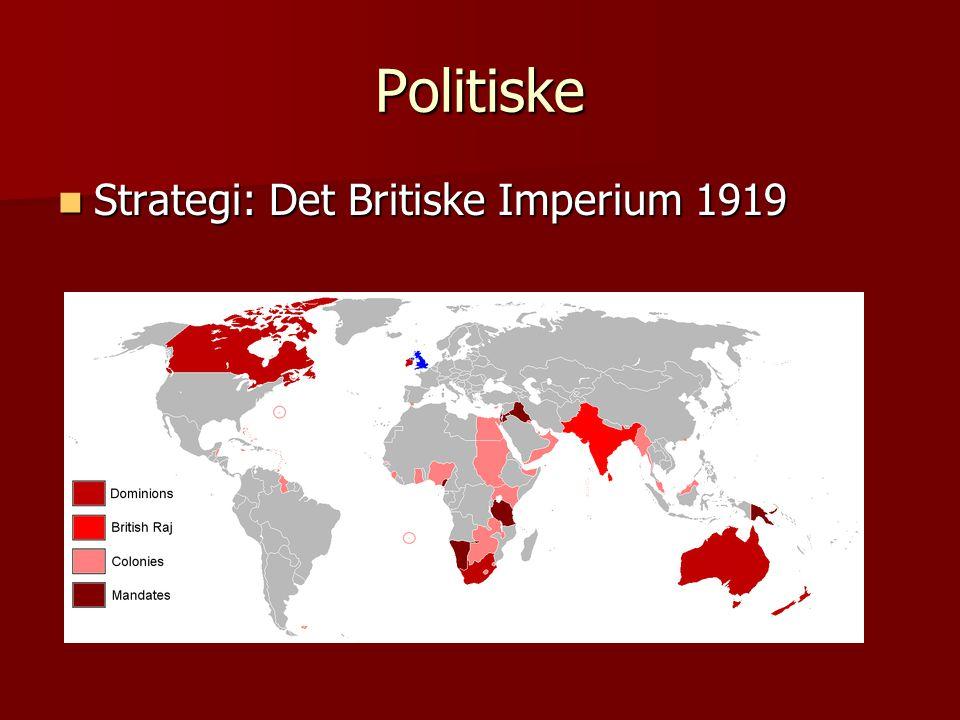 Politiske  Strategi: Det Britiske Imperium 1919