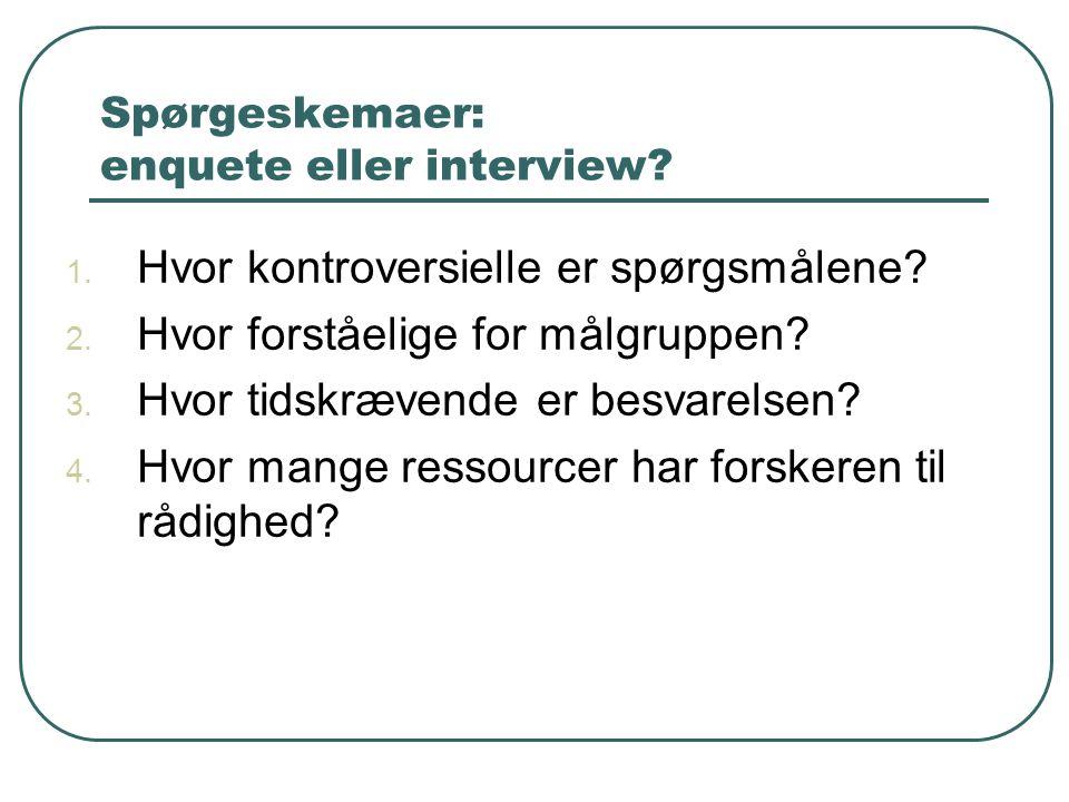 Udvælgelse af interviewpersoner – hvordan og hvor mange.