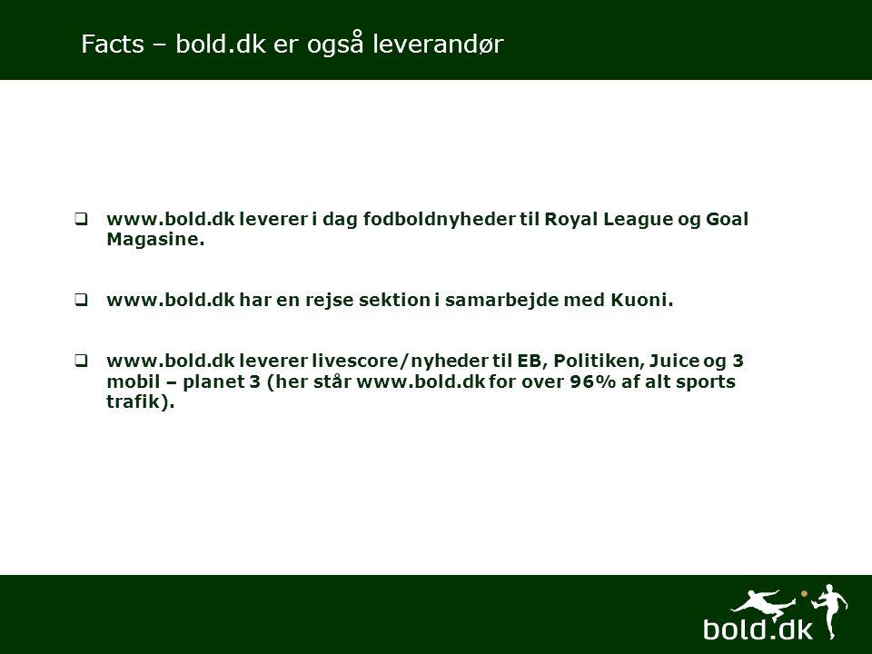  www.bold.dk leverer i dag fodboldnyheder til Royal League og Goal Magasine.