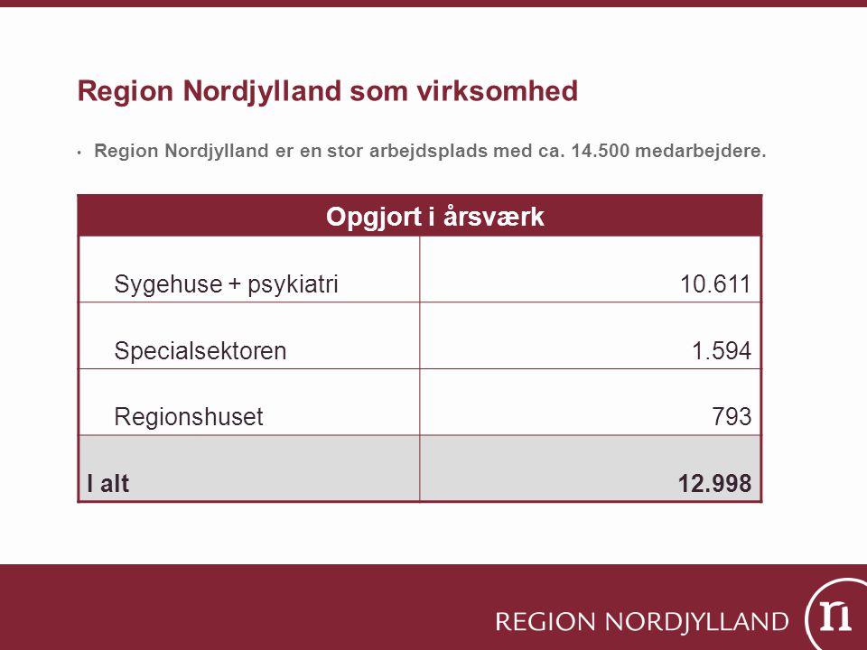 Region Nordjylland som virksomhed • Region Nordjylland er en stor arbejdsplads med ca.