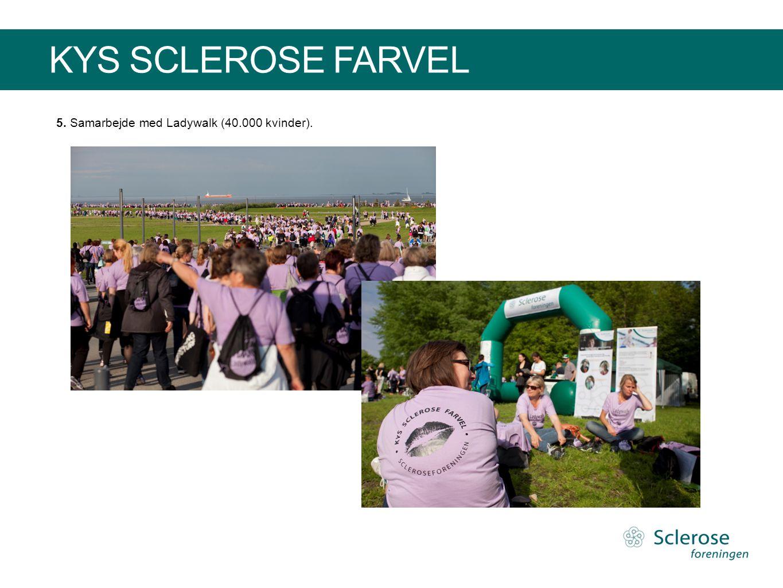 KYS SCLEROSE FARVEL 5. Samarbejde med Ladywalk (40.000 kvinder).
