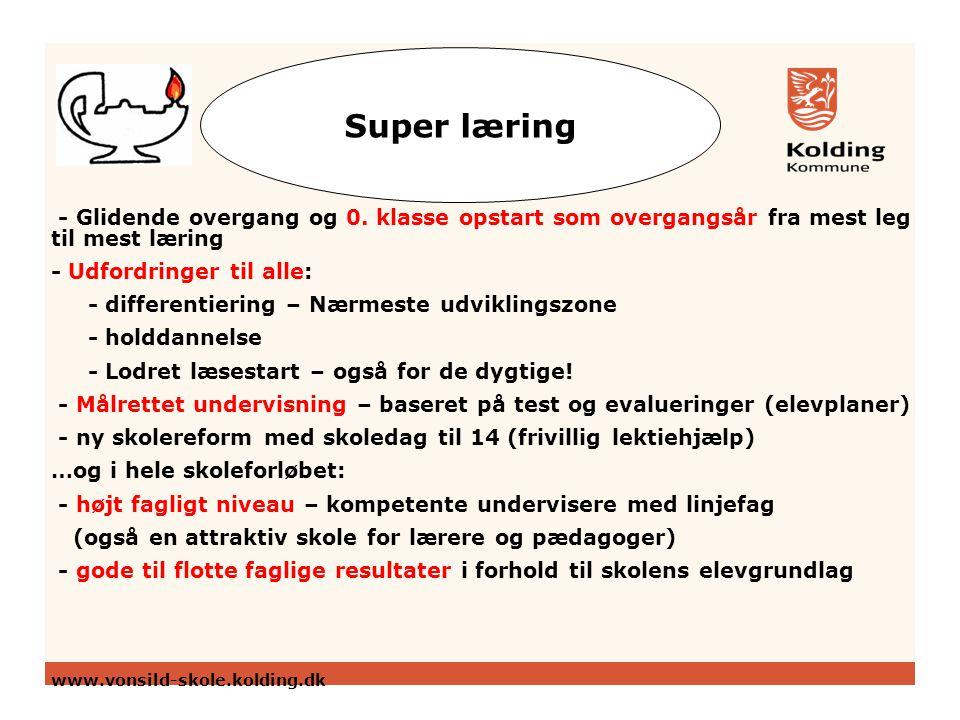 Super læring - Glidende overgang og 0.