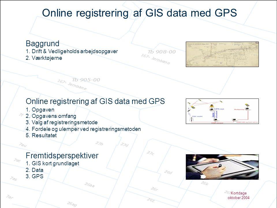 Kortdage oktober 2004 Online registrering af GIS data med GPS – Valg af registreringsmetode Trimble Geo XT GPS-modtager Trimble Geo XT (skærmbillede)
