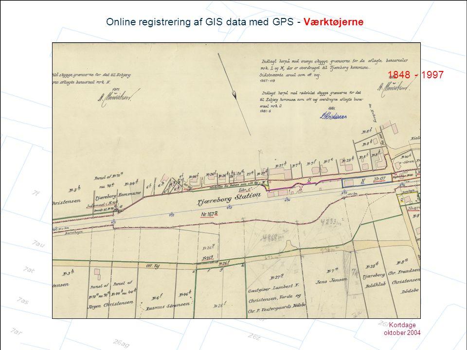 Kortdage oktober 2004 Online registrering af GIS data med GPS - Fordele og ulemper ved metoden Fordele •Data produceres i GIS •Data produceres på stedet •Præcision •Fleksibel •…….