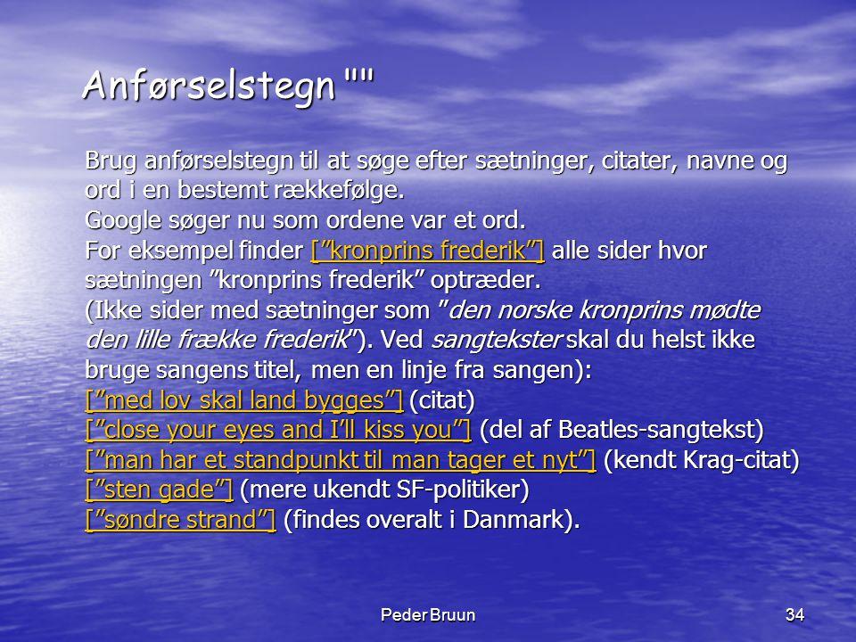 Peder Bruun34 Anførselstegn