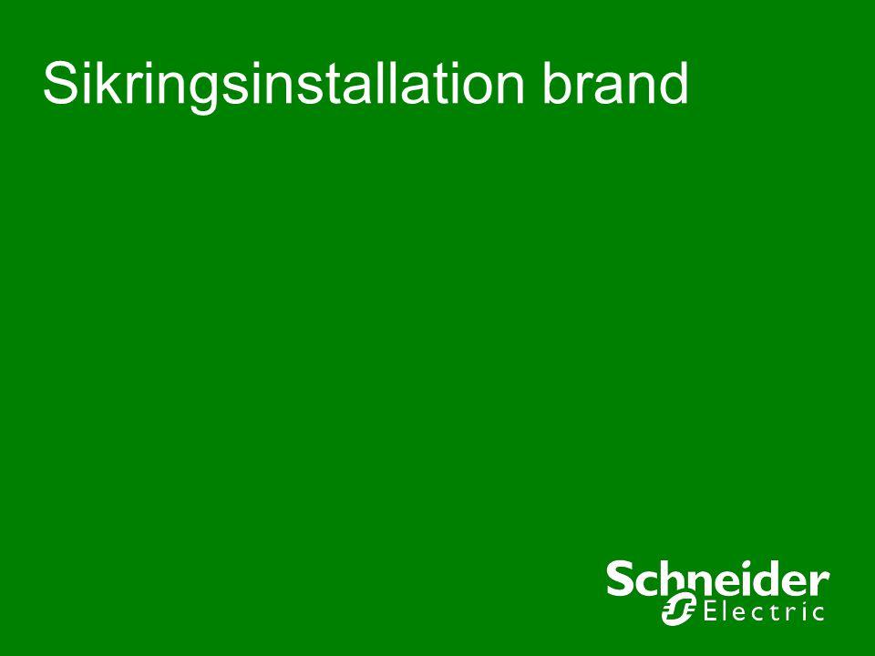 Sikringsinstallation brand
